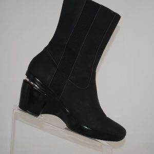 Cole Haan Hayes Gore Black Suede Boots Size 7
